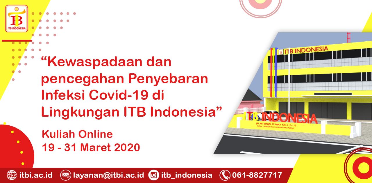 PENCEGAHAN COVID 19 DI LINGKUNGAN ITB INDONESIA
